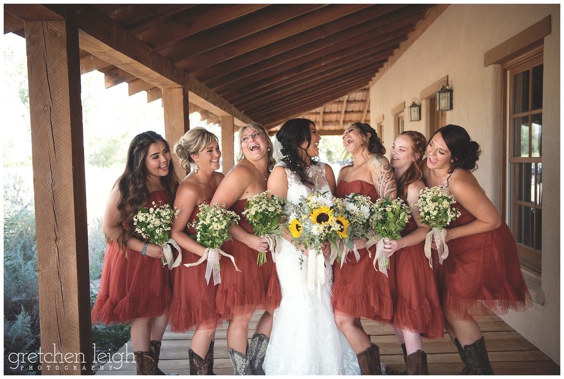 Gretchen leigh photography rustic ranch wedding yerington nv the girls all had their cowboy boots with their rust colored bridesmaid dresses that complimented the rustic country wedding theme perfectly ombrellifo Images